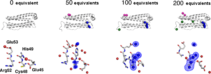 Fig. 2 Details of structural changes with the accumulation of palladium.