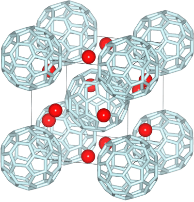 Fig. 1	Structure of new fullerene compound Cs3C60.