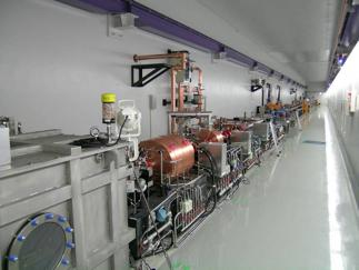 Fig. 2	Tunnel interior of SCSS test accelerator