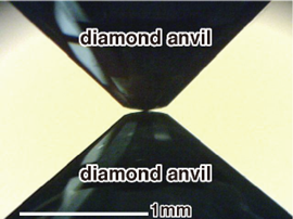 Fig. 3 Diamond anvil (side view)