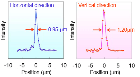 Fig. 4 Intensity distribution of focused X-ray free-electron laser beam